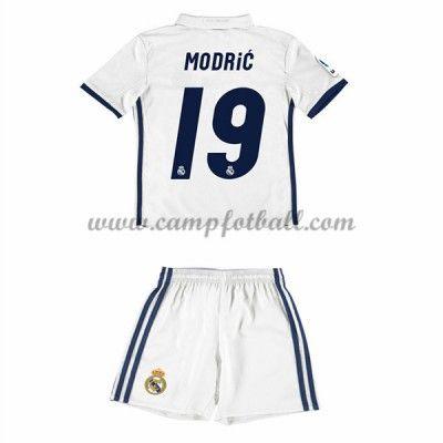 Fotballdrakter Barn Real Madrid 2016-17 Modric 19 Hjemme Draktsett