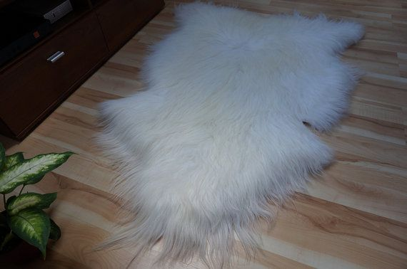 GIANT SHEEPSKIN Iceland White Throw Genuine by TrendingSlippers, $62.00
