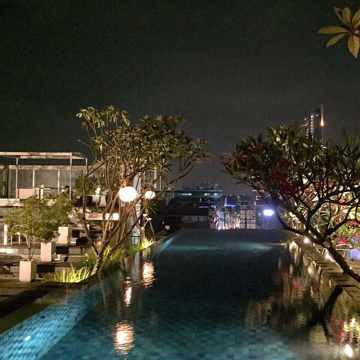 For your romantic dinner.. The Edge at Kemang Icon Jakarta.. Not to expensive I think..  Jl. Kemang Raya No.1 Kemang Icon - 5th floor