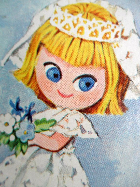 Peepul Pals Book Brenda Bride Peepul Pal Doll 60s Childrens Story Book Vintage Whitman Blue and White Midcentury Toy Liddle Kiddle Ephemera