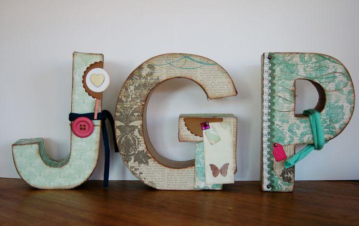 Lletres per decorar habitaci infantil diy scrapbooking - Letras home decoracion ...