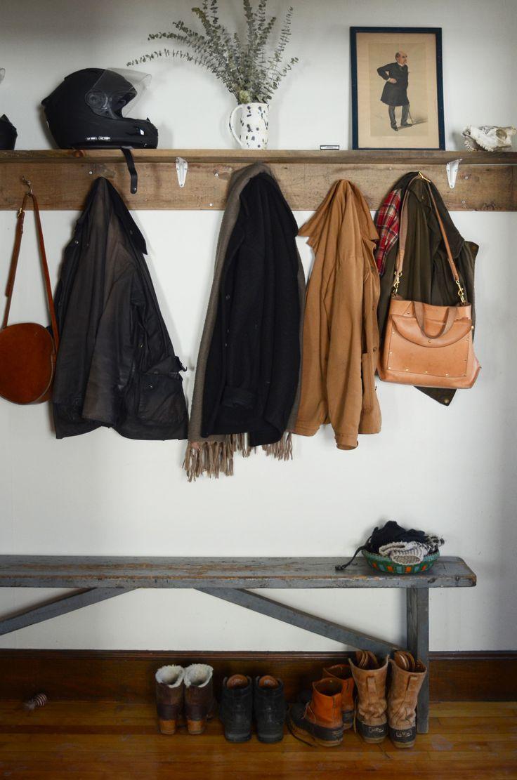 Like the shelf above the hangers