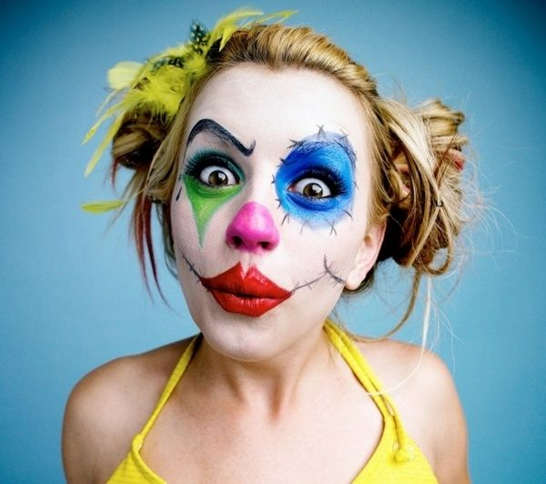 Cool Halloween makeup clown makeup for women DIY halloween costume ideas