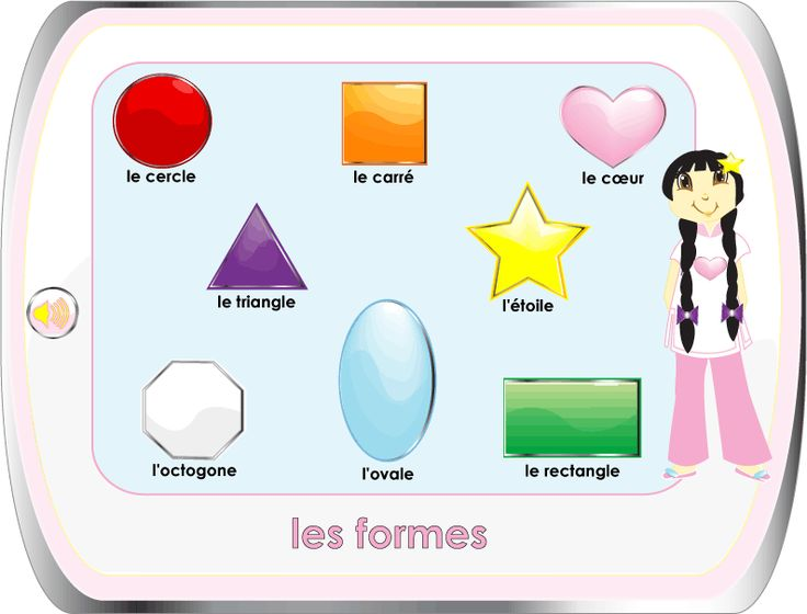 learn the shapes in french