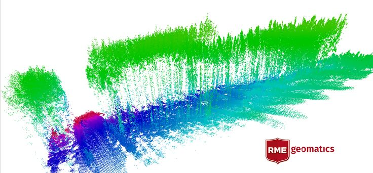 LiDAR side view of a forestry survey - great for precise tree heights