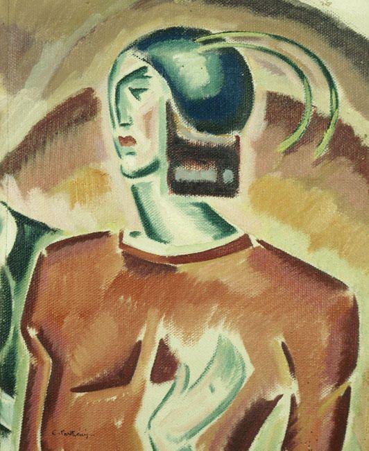 kaufen Gemälde'Rosa Abbildung (Wizard)' von Konstantinos Parthenis - Kaufen Sie eine handgemalte Ölreproduktion , Kunstreproduktion, Ölgemäldereproduktionen, Kunst auf Leinwand, Kunstwerksreproduktion, Leinwand Ölgemälde Reproduktion Kunstwerk