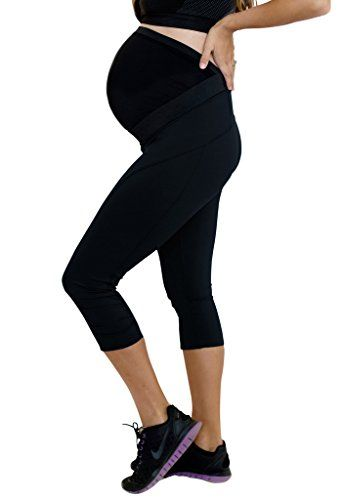 Mumberry Move Maternity Active Capri with Mumband Belly Support