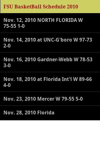 FSU Basketball is a must have for all FSU Basketball fans.<br>2010 Roster, FSU fight song and war chant which can be saved as ring tones, and a Rss Basketball feed.  There is also a tribute to past great FSU Basketball players. <p>*disclaimer- Not in any