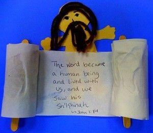 Memory Verse Crafts For Kids John 1 14 Jesus Scroll