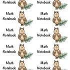 Camping Theme Math Journal Labels