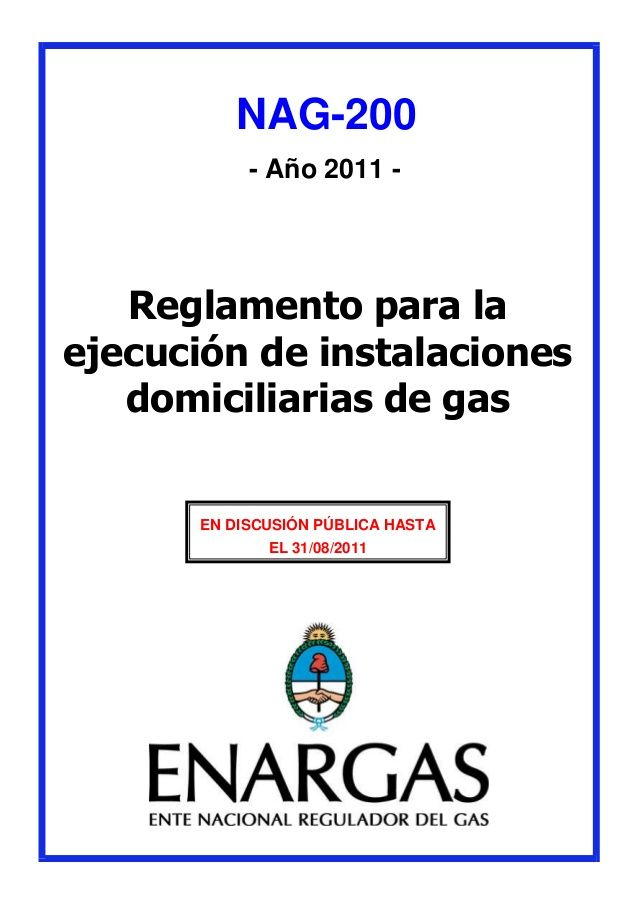 Reglamento de gas en estudio