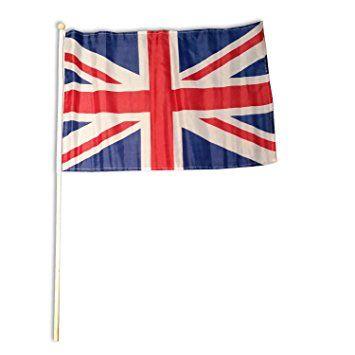 Durable London - Bandiera inglese su asta di legno, circa 45 x 30 cm Souvenir dell'Inghilterra. Un oggetto da collezione dell'Inghilterra.