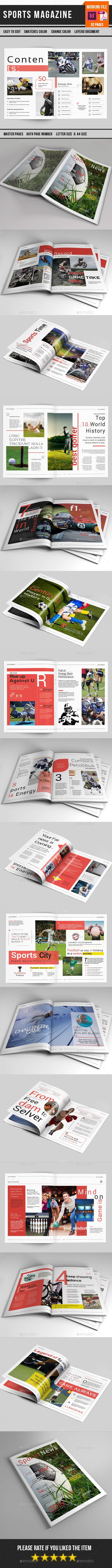 Sports Magazine Template-V17 - Magazines Print Templates Download here : https://graphicriver.net/item/sports-magazine-templatev17/16607436?s_rank=185&ref=Al-fatih
