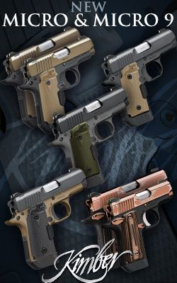 NEW PRODUCT: Kimber Micro And Micro 9 | Kimber expands its Micro and Micro 9 offerings to include six new models.  With barrels, slides and frames machined from premium stainless steel and aluminum, a smooth single action trigger and manual thumb safety- these are the ultimate in micro-compact pistols.