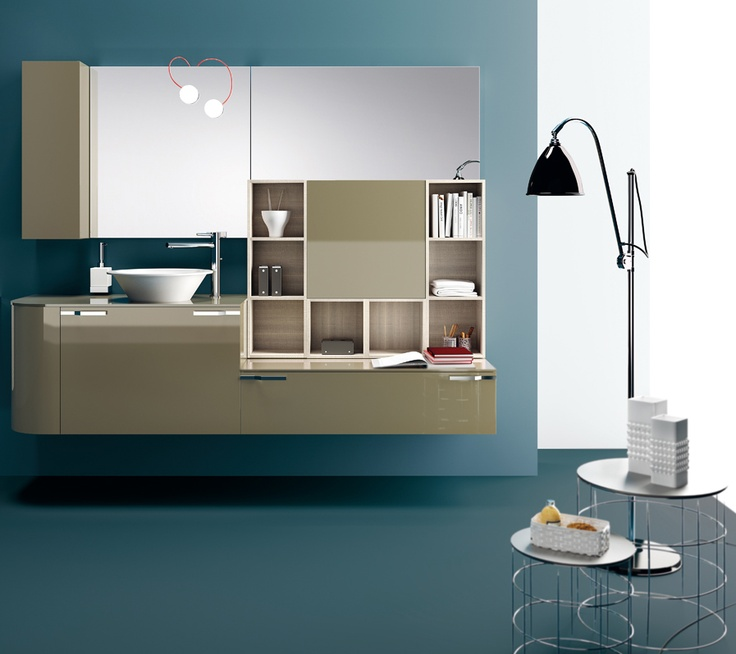 #kylpyhuone #scavolini #decorkylpyhuoneet #kylpyhuonekalusteet #sisustus  Aquo kylpyhuonekaluste Scavolini Scavolini Bathrooms | #Lamp | #Mirror | #Design