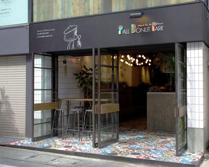Неповторимый интерьер магазина-кафе Ball Donut Park