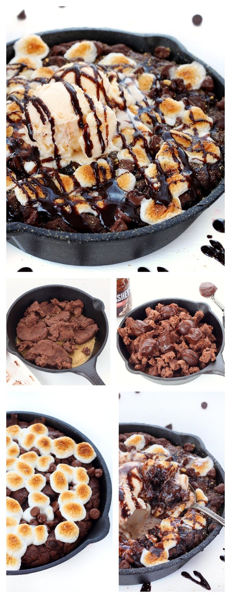 Triple chocolate smores pizookie recipe - OMG would it be wrong to make this and eat it all myself in one sitting??