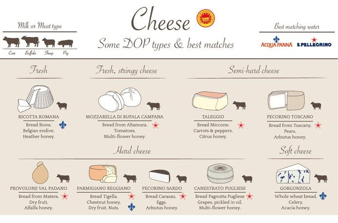Cheeses are categorized by types and there's a helpful icon indicating which animal milk they are made from. Description from italian-feelings.com. I searched for this on bing.com/images