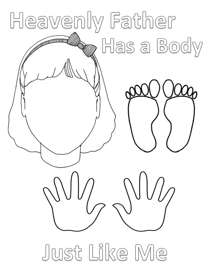 Lesson 2 Heavenly Father Has A Body Sunbeam Printables Coloring