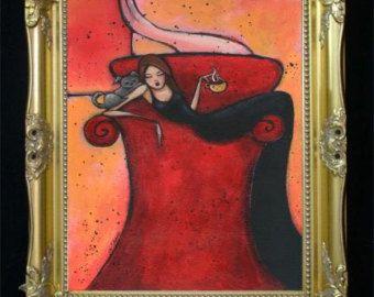 ¡ Hola! Ofrece a la venta una moda colorida ilustración impresión del arte de una chica rubia con Gato siamés  Dandle firmado la impresión de giclee de la pintura original por Shano. Tamaños y precios, utilice el menú desplegable para el derecho. Tamaños ofrecidos son 8.5 x 11 (A4), 11 x 17 (A3) y 13 x 19 (+ A3)  (Imagen no tendrá los derechos de autor en la impresión real).  Impresiones se envían en sobres claro con cartón de respaldo para la estabilidad y la pantalla. Cada impresión es…