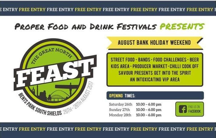 If you are staying at our bed and breakfast accommodation over the bank holiday weekend then you may like to visit The Great North Feast, a food festival that is taking place on Saturday, Sunday and Monday down the street from us at Bents Park.