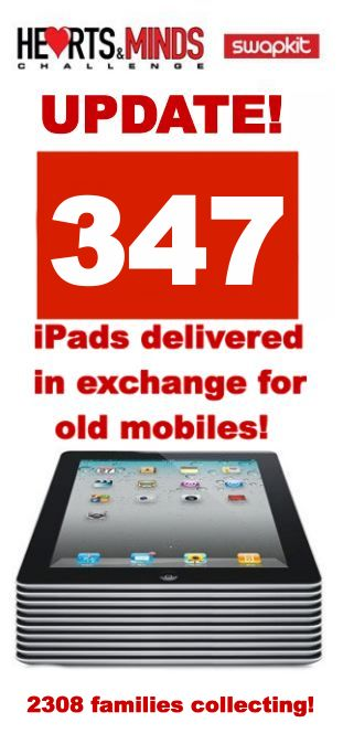 347 iPads delivered in exchange for old mobiles