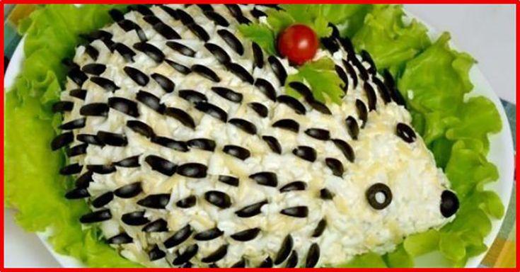 """Salată cu piept de pui în formă de """"Arici"""" - copii vor fi cei mai încântați și vor mai cere o porție! - Bucatarul"""