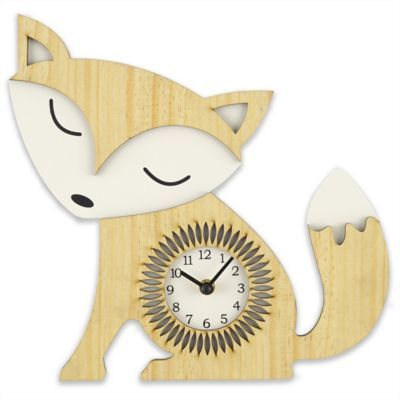 Add an adorable, functional accent to a baby's nursery or child's room with the Sterling & Noble Fox Wall Clock. Features Arabic numerals and metal hour and minute hands for accurate timekeeping.