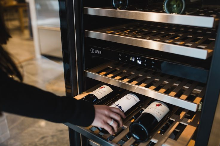 """""""Keep your wine in the coolest, darkest place in the house"""" suggests ILVENISTA sommelier Ben Moechtar.We're thinking an ILVE Wine Fridge sounds perfect 😉"""