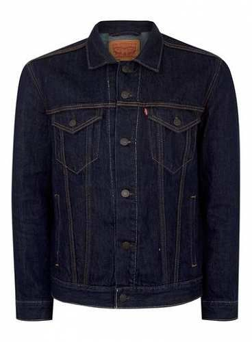 Prezzi e Sconti: #Levi's dark denim trucker jacket misure Smlxl  ad Euro 120.00 in #Topman #Clothing mens coatsjackets