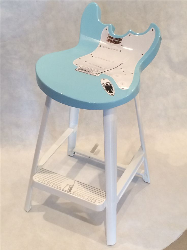 Awesome 57 Chevy blue guitar stool