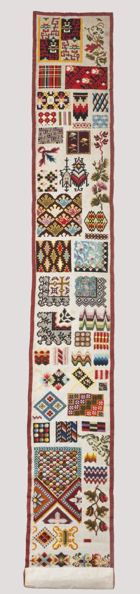 19th Century English WoolWork Sampler Dated 1860