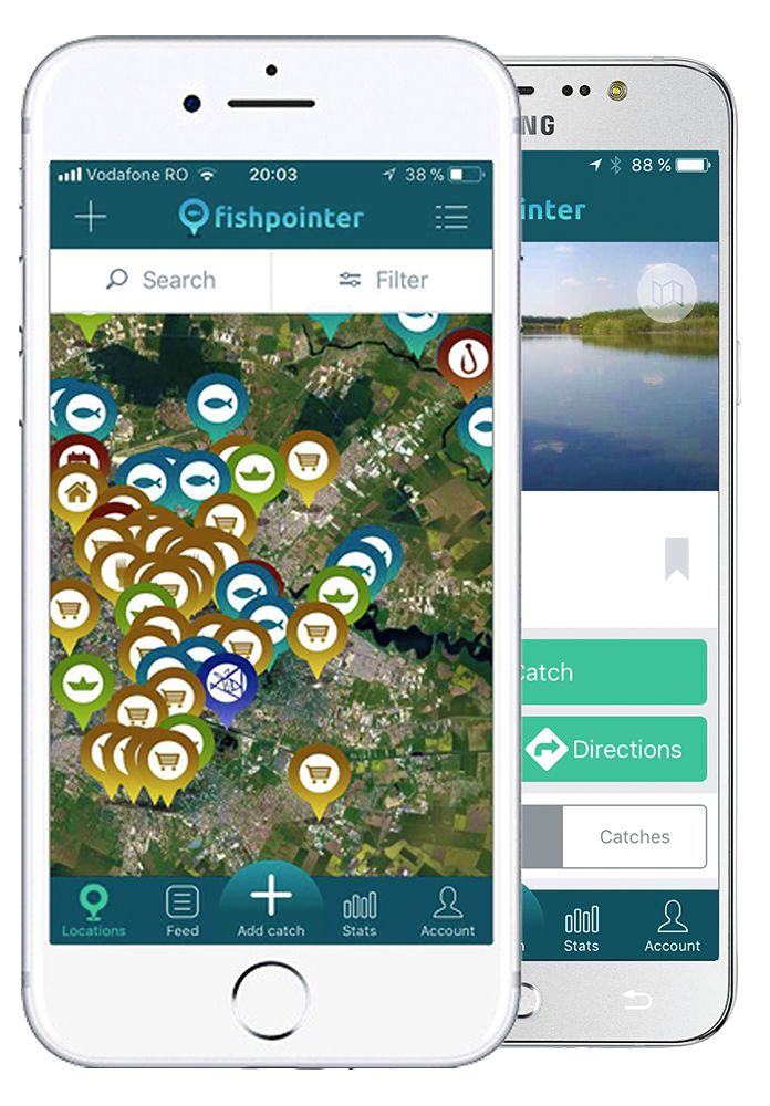 Fishpointer - live maps for fishing, tagged locations, catches and more
