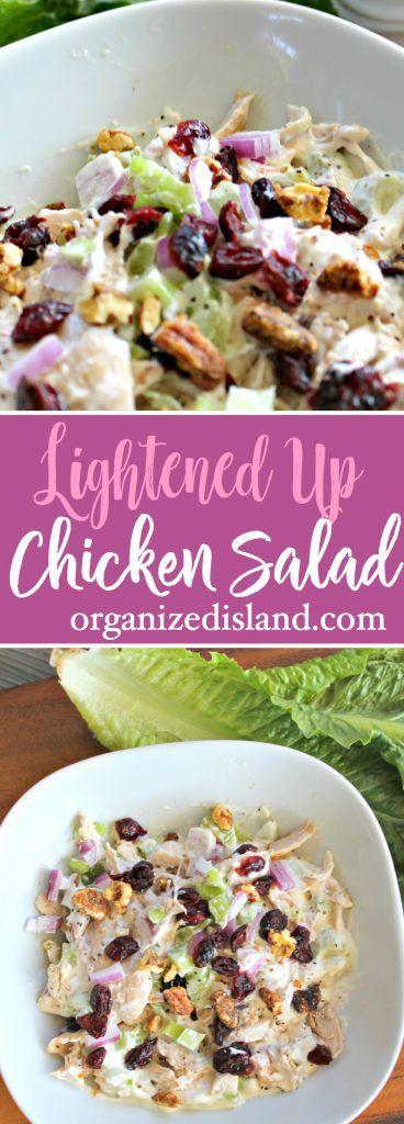 Lightened chicken salad recipe - a lighter version of a family favorite!    #light #chicken #salad #recipe via @OCRaquel