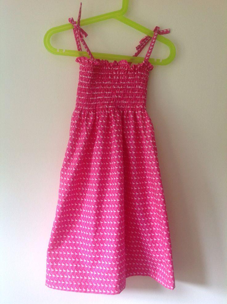 Girls summer dress.  My first bit of shirring!