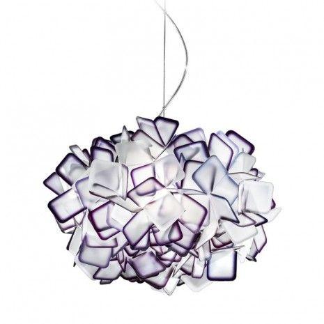 Slamp Clizia Clizia, hanglamp Hanglamp paars. Mooi of niet mooi...? (Voor zitkamer)