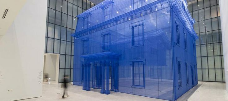Ghostly house made entirely of silk by Do Ho Suh