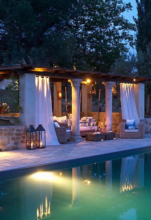 divinespirit3:  (via (410) Late night relaxation. | . alfresco living . | Pinterest)