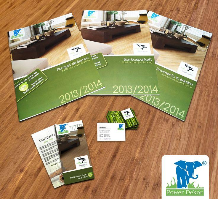 """Powerdekor - bamboo your life"" Katalogserie (3-sprachig) sowie Flyer und Visitenkartenvon www.BlickeDeeler.de | #stationary #corporate #design #corporatedesign #identity #catalogue #marketing #businesscards #businesscard #folder < Layout & Design by www.BlickeDeeler.de"