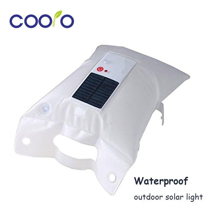 Led solar light waterdicht opblaasbare airbag opvouwbare camping zaklamp voor op de camping lantaarn zonnelantaarn, wandelen reizen