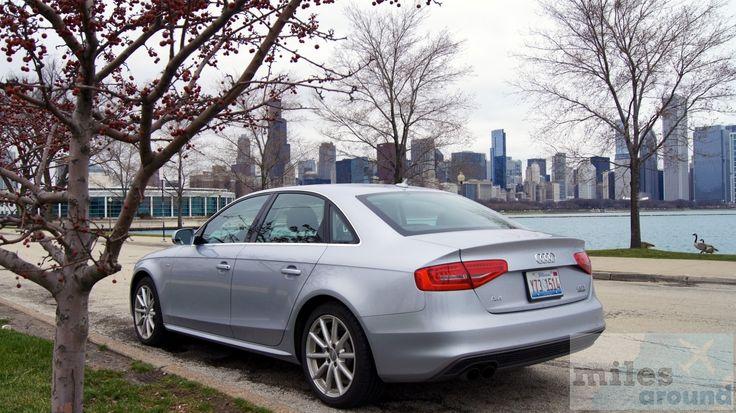 unser Mietwagen vor der Skyline von Chicago - Check more at https://www.miles-around.de/reisetipps/silvercar-immer-ein-audi-a4-als-mietwagen-in-den-usa/,  #A4 #Audi #AudiA4 #Auto #Bewertung #Chicago #Flughafen #Luxus #Mietwagen #ORD #Premium #Reisebericht #Schnäppchen #Silvercar #USA