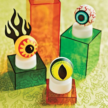 eye see you lined up in your front window these petrifying peepers made from ping pong balls and battery powered tea lights will give passersby the - Halloween Ping Pong Balls