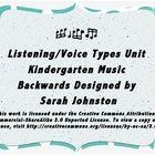 Kindergarten music lesson exploring the four voice types....