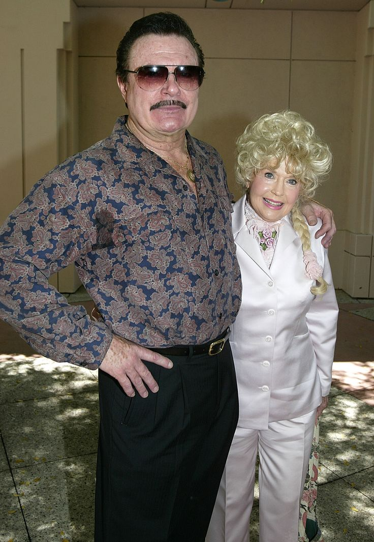 Max Baer, Jr. (Jethro) And Donna Douglas ( Elle May ) of The Beverly Hillbillies; here at a August 30th, 2003 memorial service for fellow actor,  Buddy Ebsen {a.k.a. character,  Jed Clampett}...who died on July 6th at the ripe old age of 95.  now100fm.cbslocal.com
