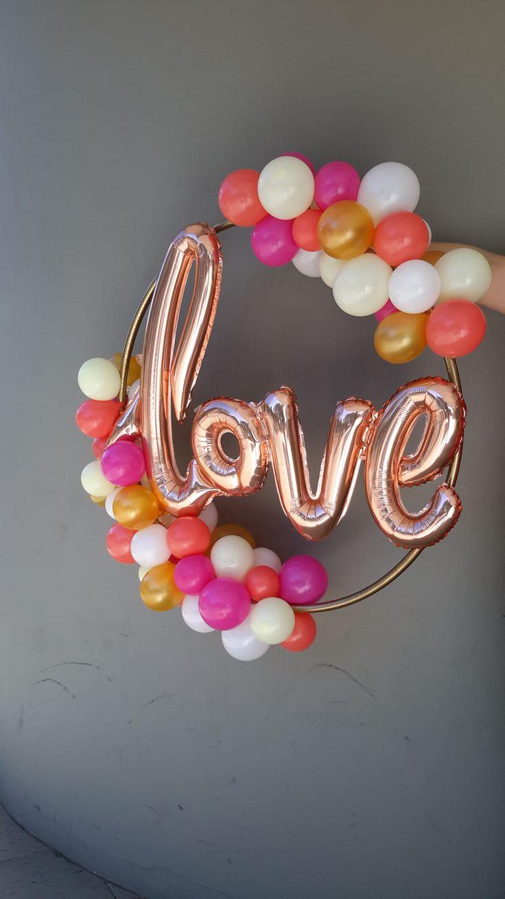 """Beautiful Hoop """"Love"""" display"""