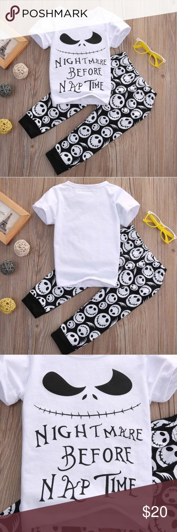Adorable Nightmare b4 Christmas Baby Outfits Nightmare before Christmas Baby Outfits/Cotton Baby Boys Casual 2pcs baby clothing sets.   Baby Unisex Long Sleeve Romper Jumpsuit Pajamas.   Adorable Trendy and Fashionable Warm Outfits  Materials: Cotton Matching Sets #babyboylongsleeve