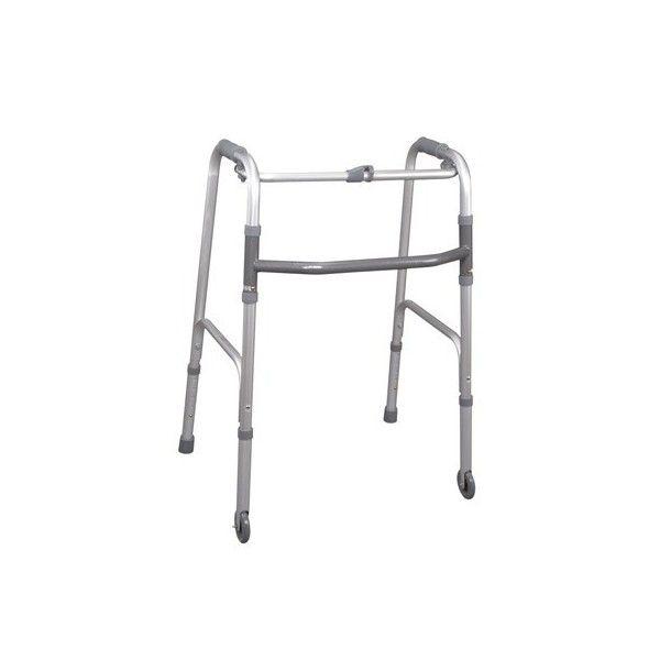 MRP745 - Cadru ortopedic de mers pliabil cu o parte pe roti si una fixa http://ortopedix.ro/cadru-de-mers/52-mrp745-cadru-de-mers-pliabil-din-aluminiu-anodizat-ajustabil-in-inaltime-cu-o-parte-pe-roti-si-una-fixa.html