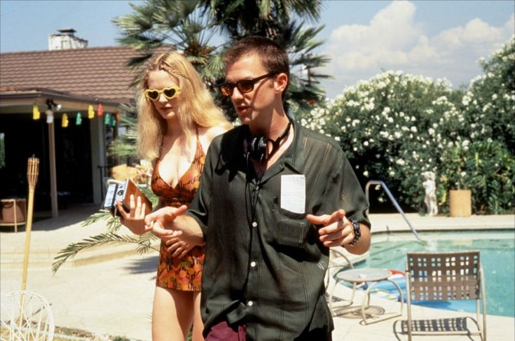 Paul Thomas Anderson with Heather Graham - Boogie Nights