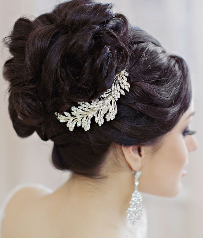 18 Creative And Unique Wedding Hairstyles For Long Hair: 290 Best Bridal Hair Styles & Hair Accessories Images On