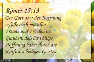 Bibelvers Römer 15:13